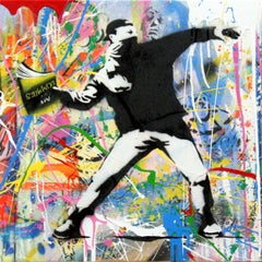 Banksy Thrower (7) by Mr. Brainwash