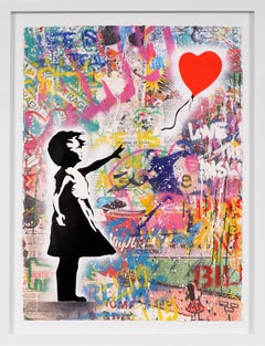 Mr. Brainwash, Balloon Girl (Unique Painting), 2020