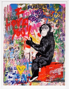Mr. Brainwash, I Love You (Unique Painting), 2020