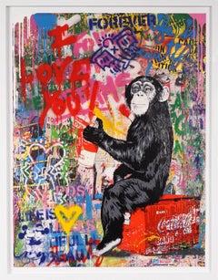 Mr. Brainwash, 'I Love You' Unique Painting, 2020