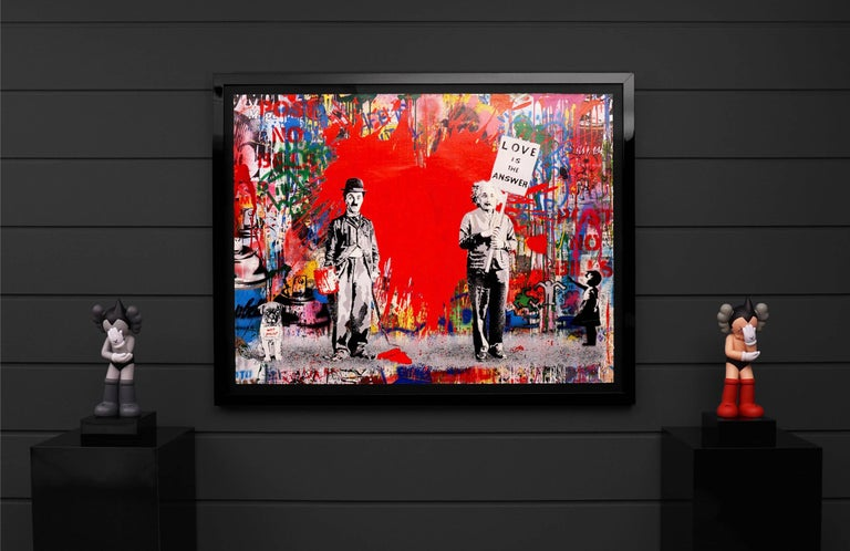 Mr. Brainwash, Juxtapose (Unique), 2020 - Contemporary Painting by Mr. Brainwash