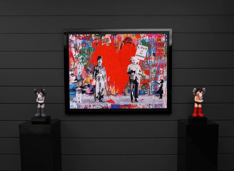 Mr. Brainwash, Juxtapose (Unique), 2020 - Contemporary Painting by Mr. Brainwash
