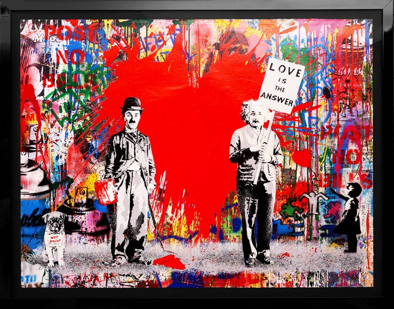 Mr. Brainwash, Juxtapose (Unique), 2020 - Painting by Mr. Brainwash