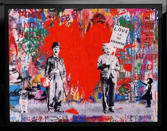Mr. Brainwash, 'Juxtapose' Unique Painting, 2020