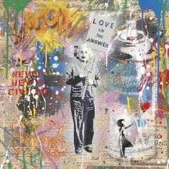 Einstein - Mr. Brainwash, street art, pop art, silkscreen and mixed media.