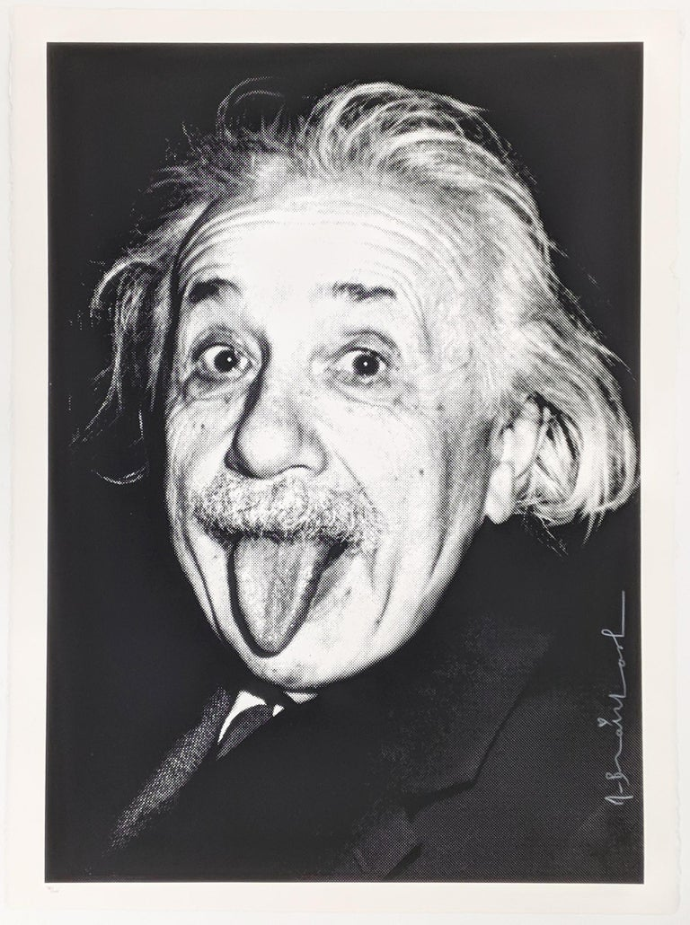 Mr. Brainwash Portrait Print - HAPPY BIRTHDAY EINSTEIN!