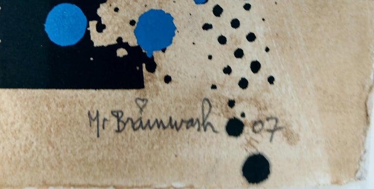 John Lennon by Mr. Brainwash - Contemporary Street Art Hand Finished Print For Sale 1