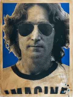 John Lennon by Mr. Brainwash - Contemporary Street Art Hand Finished Print