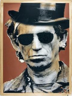 Keith Richards, Mr. Brainwash Street Art Contemporary Print