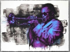 Mr. Brainwash - Miles Davis 2015 screen print signed and numbered