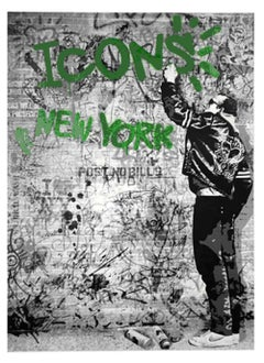 Mr. Brainwash- New York Icons-Haring-Green signed and numbered