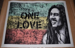 "Mr. Brainwash ""One Love, Bob Marley"" Large Scale Screen Print Signed /Numbered"