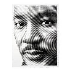 Portrait of Martin Luther King Jr, Street Art, Urban Art, Contemporary Art