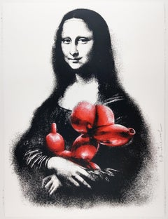Rescue, Red, Mr. Brainwash Contemporary Art Print - Mona Lisa