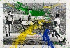 The King Pele, Bicycle Kick, Mr. Brainwash, Hand-finished Street Art Print