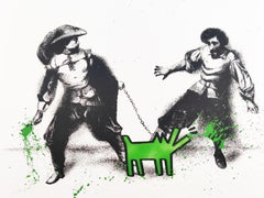 Watch Out! Green by Mr. Brainwash - Street Art Print, Unique & Hand Finished