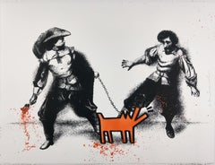 Watch Out! Orange by Mr. Brainwash - Street Art Print, Unique & Hand Finished