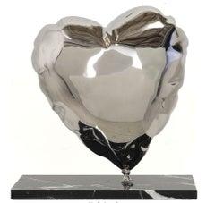 Balloon Heart-Stainless Steel by Mr. Brainwash