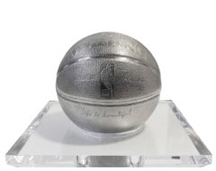 Basketball-Stainless Steel by Mr. Brainwash