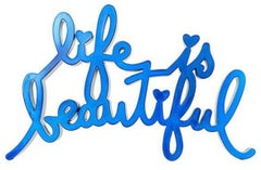 Life Is Beautiful-Hard Candy Blue by Mr. Brainwash