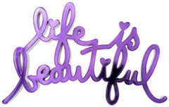 Life Is Beautiful-Hard Candy Purple by Mr. Brainwash