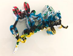 Life Is Beautiful - Multicolor Splatter sculpture