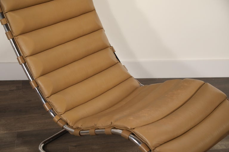 MR Chaise Lounge Chair by Mies van der Rohe for Knoll International, Signed 1978 14