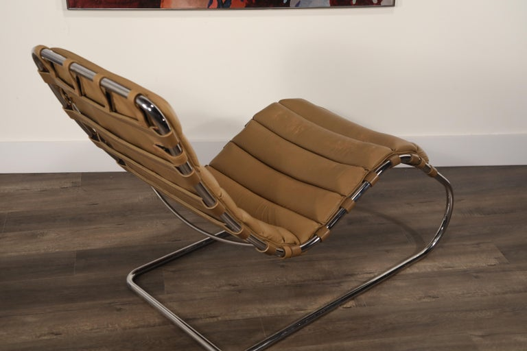 MR Chaise Lounge Chair by Mies van der Rohe for Knoll International, Signed 1978 18