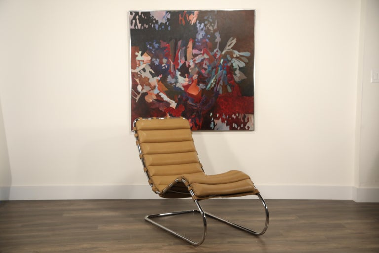 MR Chaise Lounge Chair by Mies van der Rohe for Knoll International, Signed 1978 2