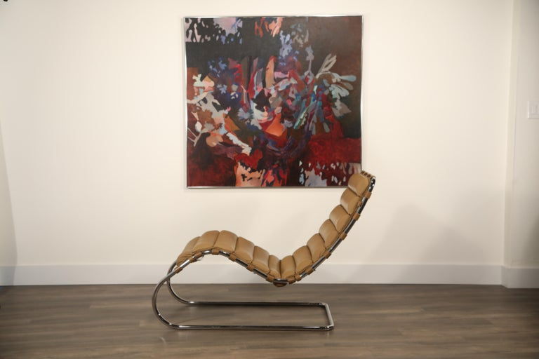 MR Chaise Lounge Chair by Mies van der Rohe for Knoll International, Signed 1978 6