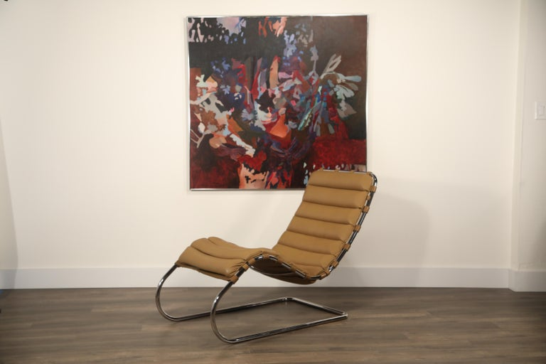 MR Chaise Lounge Chair by Mies van der Rohe for Knoll International, Signed 1978 7