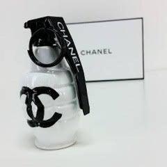 Chanel White Art Grenade