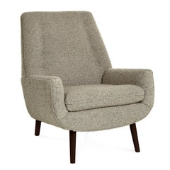 Mr. Godfrey Lounge Chair in Graphite Bouclé