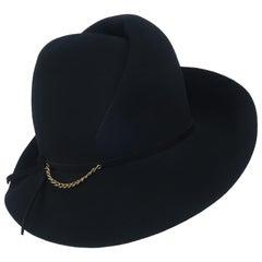 Mr. John Black Fedora Style Hat, C.1970