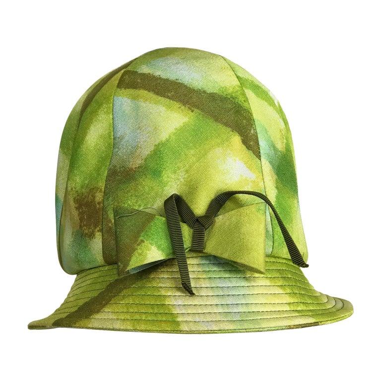 "Mr John ""Empress"" Mid Century Modern Bucket Hat 1960s"