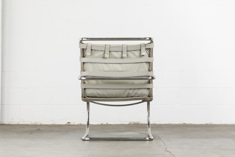 MR Lounge Armchair by Mies van der Rohe for Knoll International, Signed 1988 For Sale 3