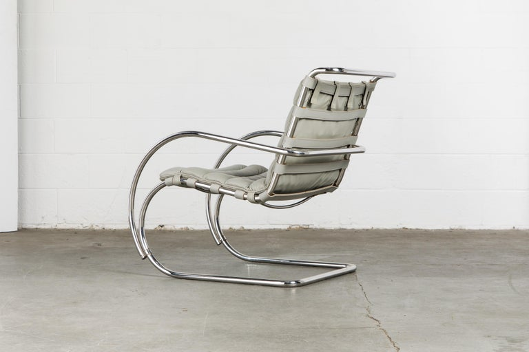 MR Lounge Armchair by Mies van der Rohe for Knoll International, Signed 1988 For Sale 4