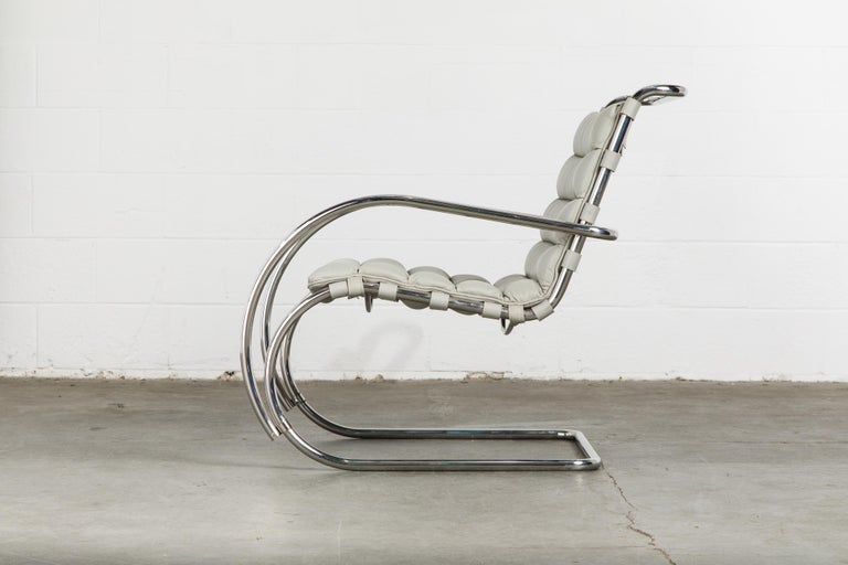 MR Lounge Armchair by Mies van der Rohe for Knoll International, Signed 1988 For Sale 5