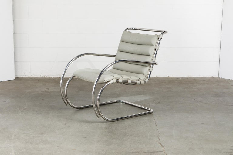 MR Lounge Armchair by Mies van der Rohe for Knoll International, Signed 1988 For Sale 6