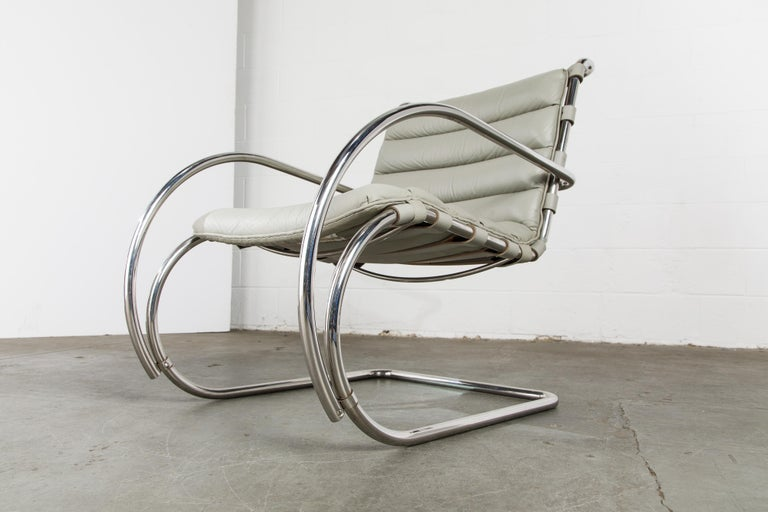 MR Lounge Armchair by Mies van der Rohe for Knoll International, Signed 1988 For Sale 7