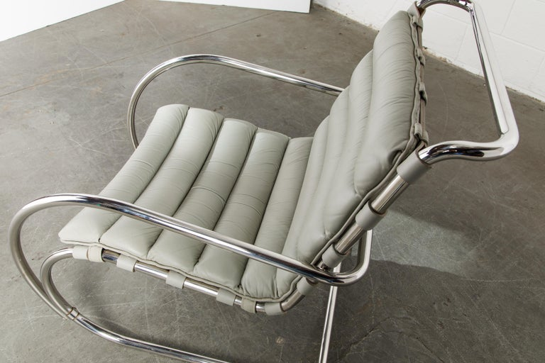 MR Lounge Armchair by Mies van der Rohe for Knoll International, Signed 1988 For Sale 9
