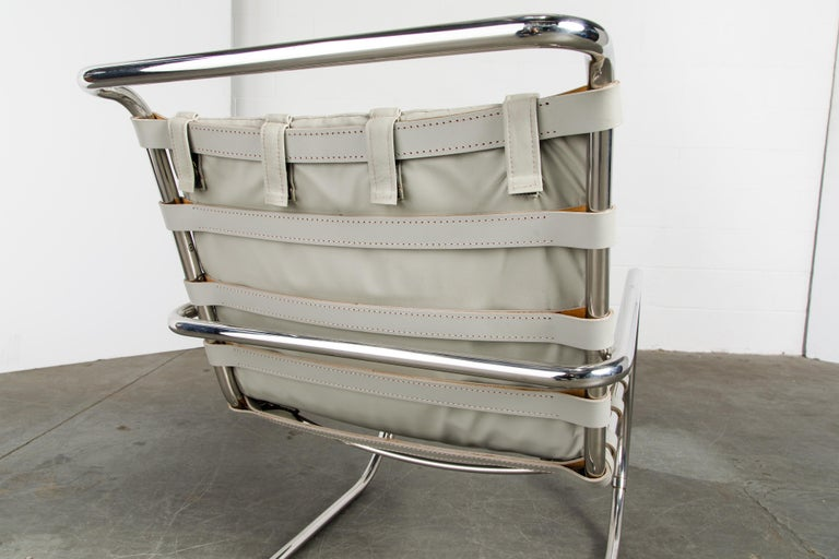 MR Lounge Armchair by Mies van der Rohe for Knoll International, Signed 1988 For Sale 10