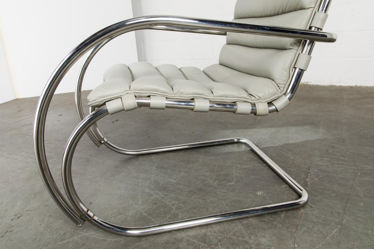 MR Lounge Armchair by Mies van der Rohe for Knoll International, Signed 1988 For Sale 11