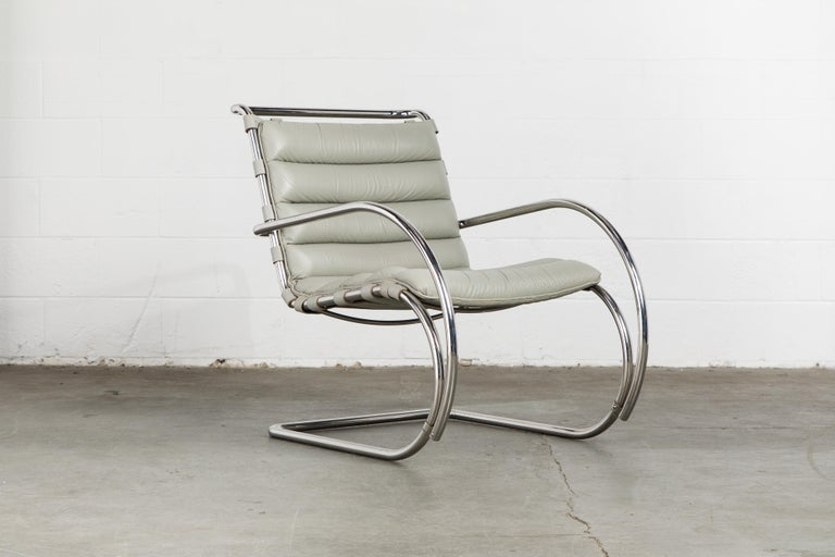 Mid-Century Modern MR Lounge Armchair by Mies van der Rohe for Knoll International, Signed 1988 For Sale