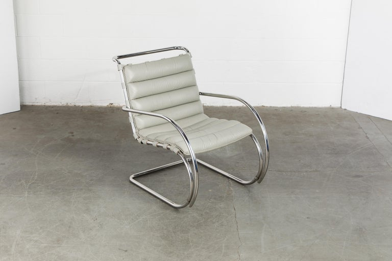 American MR Lounge Armchair by Mies van der Rohe for Knoll International, Signed 1988 For Sale