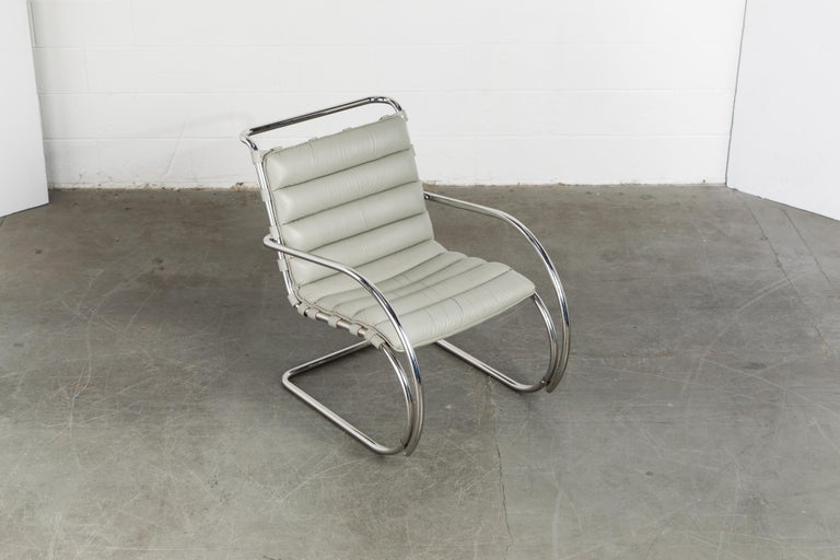 MR Lounge Armchair by Mies van der Rohe for Knoll International, Signed 1988 In Excellent Condition For Sale In Los Angeles, CA