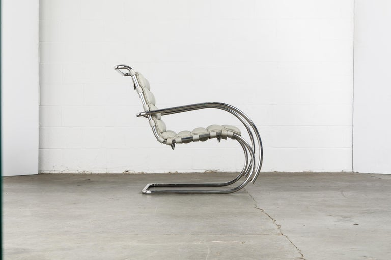 Late 20th Century MR Lounge Armchair by Mies van der Rohe for Knoll International, Signed 1988 For Sale