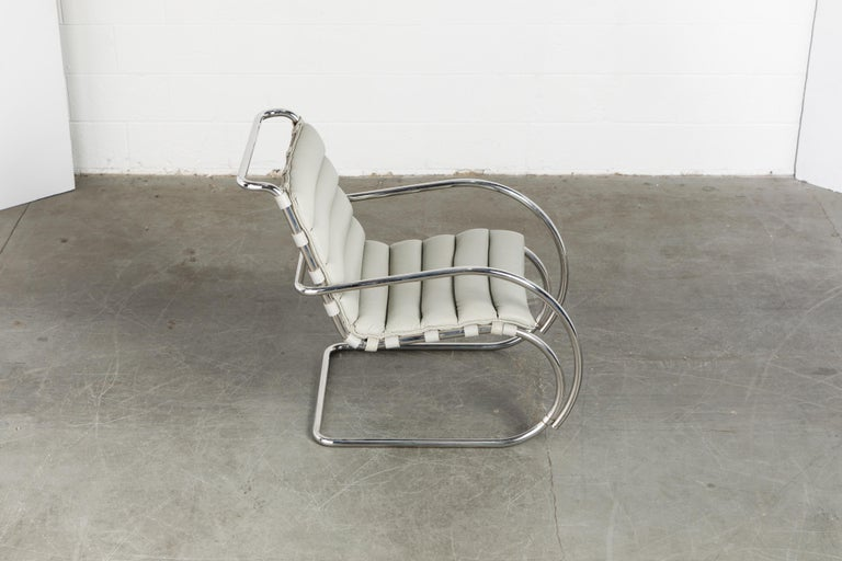 Leather MR Lounge Armchair by Mies van der Rohe for Knoll International, Signed 1988 For Sale