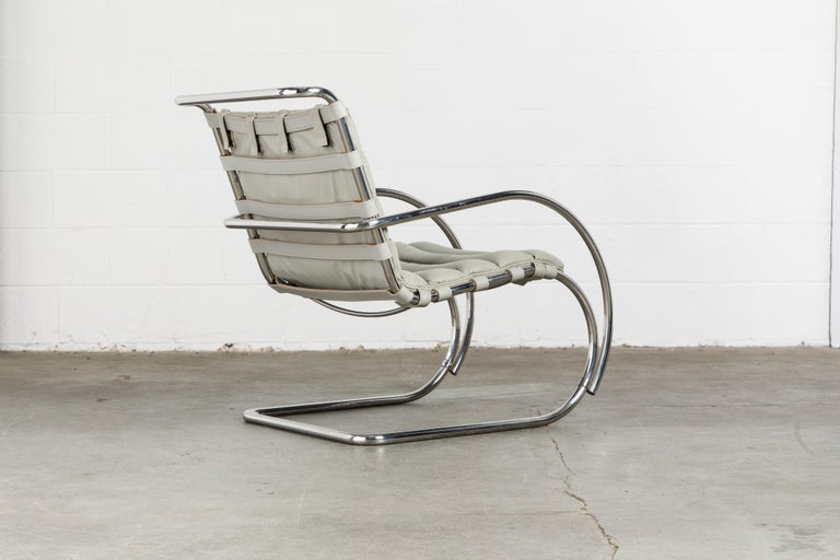 MR Lounge Armchair by Mies van der Rohe for Knoll International, Signed 1988 For Sale 1