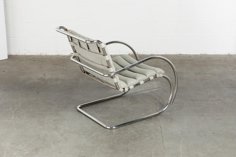 MR Lounge Armchair by Mies van der Rohe for Knoll International, Signed 1988 For Sale 2